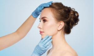 swelling rhinoplasty woman